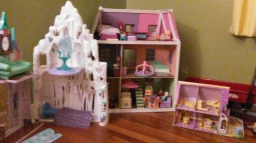 all three dollhouses