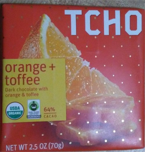 Tcho orange toffee package