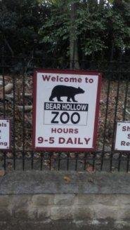 Bear Hollow sign