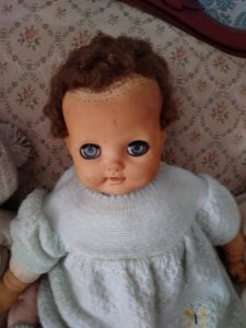 doll with receeding hair