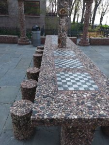 NYC chess table